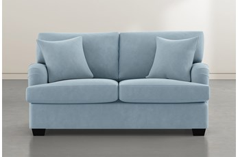 Jenner Light Blue Loveseat