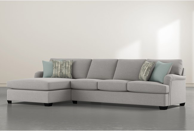 """Jenner 2 Piece 131"""" Sectional With Left Arm Facing Chaise - 360"""