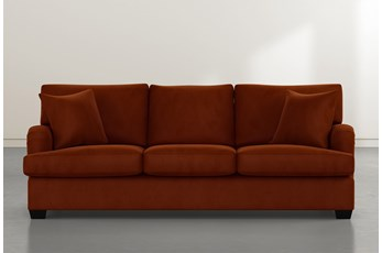 Jenner Orange Velvet Sofa