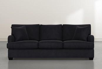 """Jenner 93"""" Dark Grey Velvet Sofa"""
