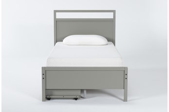 Reese Grey Twin Panel With 2-Drawer Storage