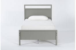Reese Grey Twin Panel Bed