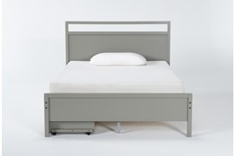 Reese Grey Full Panel With 2-Drawer Storage