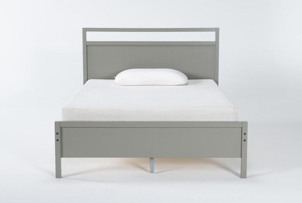 Reese Grey Full Panel Bed