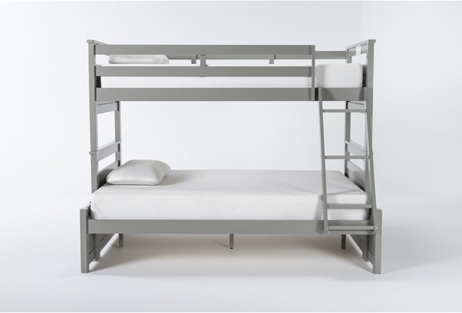 Reese Grey Twin Over Full Bunk Bed - 360