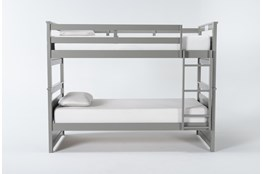 Reese Grey Twin Over Twin Bunk Bed