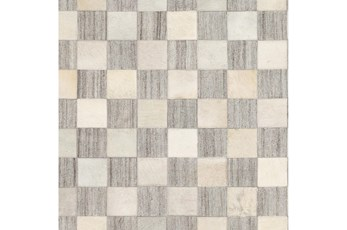 96X120 Rug-Hand Crafted Hide And Viscose Grey