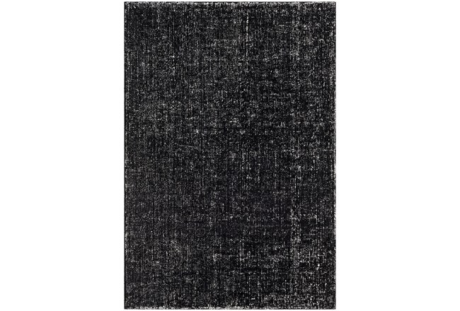 24X36 Rug-Solid With White Striation Black/White - 360
