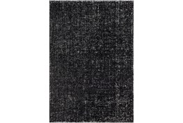 4'x6' Rug-Solid With White Striation Black/White