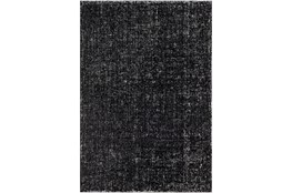 60X90 Rug-Solid With White Striation Black/White