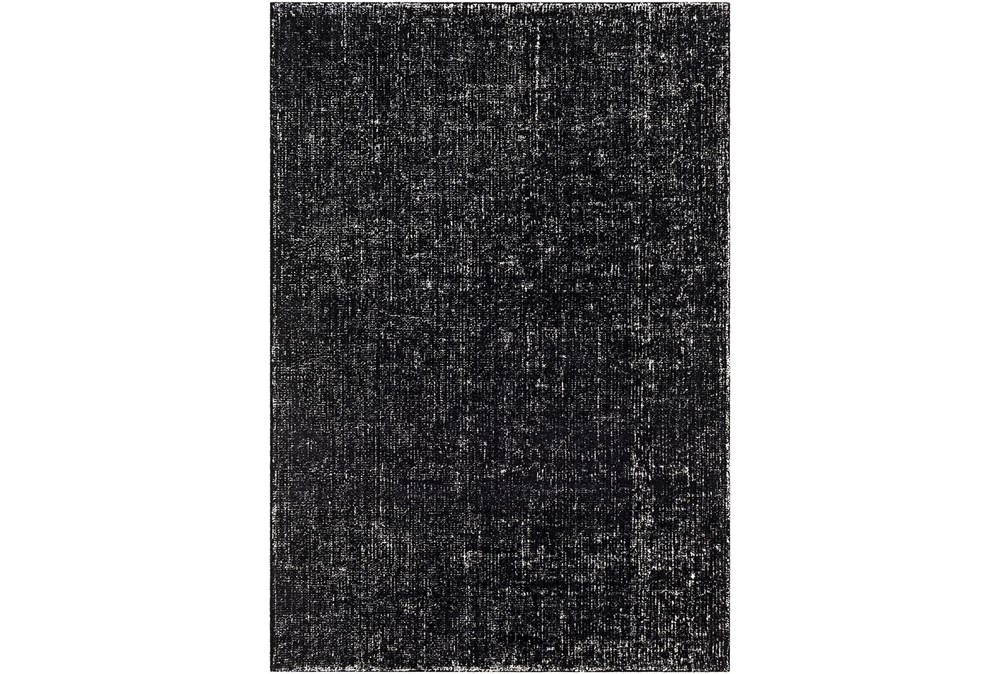 8'x10' Rug-Solid With White Striation Black/White
