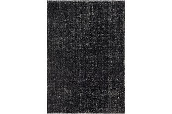 96X120 Rug-Solid With White Striation Black/White
