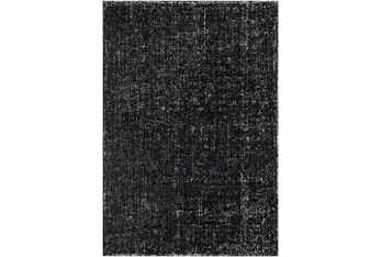 2'x3' Rug-Undyed Wool Textured Cream/Charcoal