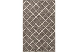 24X36 Rug-Wool And Viscose Lattice Brown/Cream
