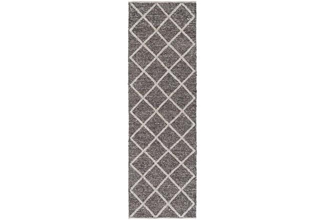 30X96 Rug-Wool And Viscose Lattice Brown/Cream - 360