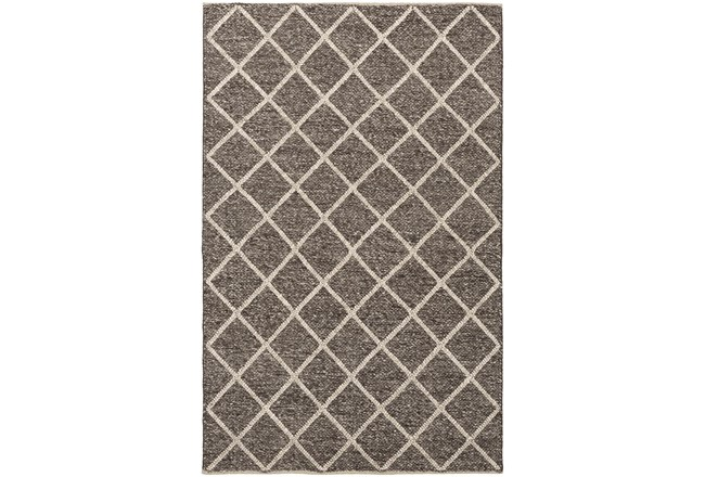 96X120 Rug-Wool And Viscose Lattice Brown/Cream - 360