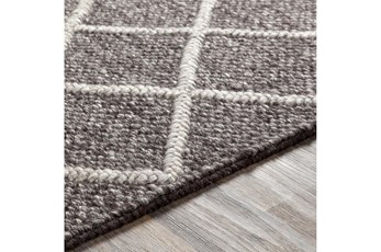 108X144 Rug-Wool And Viscose Lattice Brown/Cream