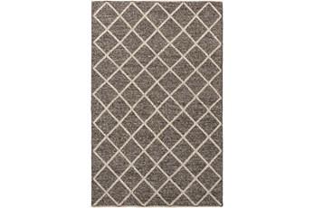 108X144 Rug-Wool And Viscose Lattice Brown/Cream
