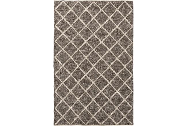 9'x12' Rug-Wool And Viscose Lattice Brown/Cream - 360