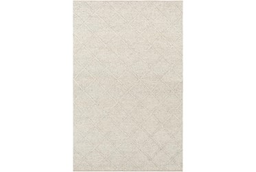 10'x14' Rug-Wool And Viscose Lattice Grey