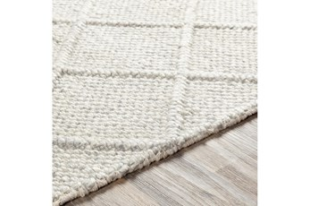 30X96 Rug-Wool And Viscose Lattice Grey