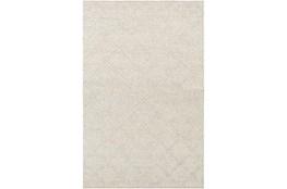 36X60 Rug-Wool And Viscose Lattice Grey