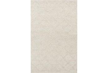 6'x9' Rug-Wool And Viscose Lattice Grey