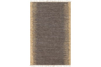 60X90 Rug-Leather And Jute With Fringe Brown/Wheat