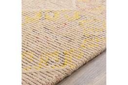 60X90 Rug-Wool Cut And Loop Modern Khaki/Multi Color