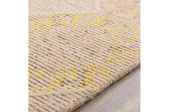 96X120 Rug-Wool Cut And Loop Modern Khaki/Multi Color