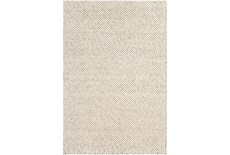 2'x3' Rug-Viscose And Wool Textured Brown/Cream