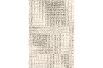 24X36 Rug-Viscose And Wool Textured Brown/Cream