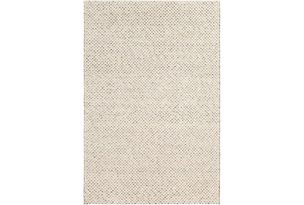 "5'x7'5"" Rug-Viscose And Wool Textured Brown/Cream"