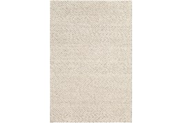 """5'x7'5"""" Rug-Viscose And Wool Textured Brown/Cream"""