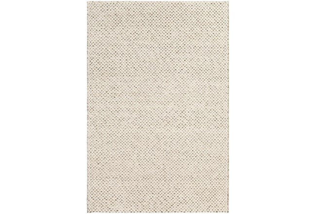 "5'x7'5"" Rug-Viscose And Wool Textured Brown/Cream - 360"