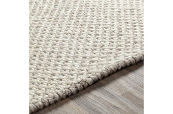 108X156 Rug-Viscose And Wool Textured Brown/Cream