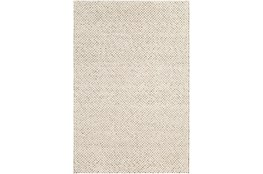 9'x13' Rug-Viscose And Wool Textured Brown/Cream