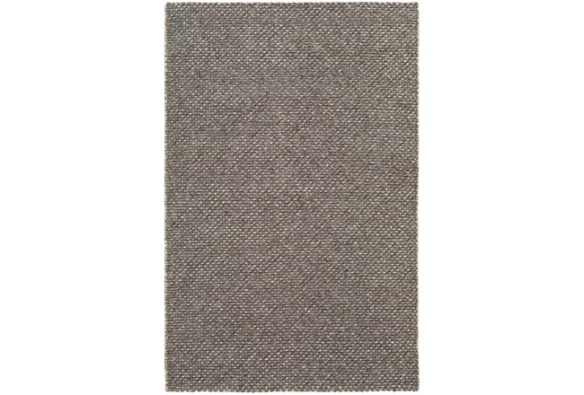 24X36 Rug-Viscose And Wool Textured Camel/Brown/Cream  - 360