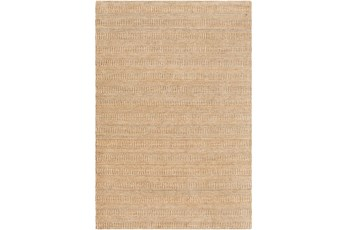 24X36 Rug-Textured Wool Burnt Orange/Khaki