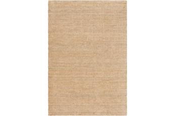 60X90 Rug-Textured Wool Burnt Orange/Khaki