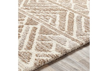 60X90 Rug-Looped Wool And Viscose Camel/Cream/Taupe
