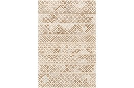 8'x10' Rug-Looped Wool And Viscose Camel/Cream/Taupe