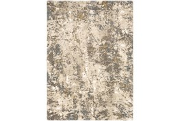 """4'3""""x5'6"""" Rug-Modern With High Pile And Metallic Accents Brown/Cream"""