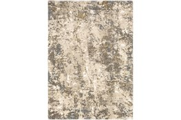 "6'6""x9'5"" Rug-Modern With High Pile And Metallic Accents Brown/Cream"