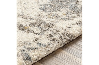 94X123 Rug-Modern With High Pile And Metallic Accents Brown/Cream