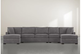 "Alder Foam 4 Piece 160"" Sectional With Double Chaise"