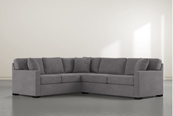 """Alder Down 2 Piece 92"""" Sectional With Right Arm Facing Condo Sofa"""