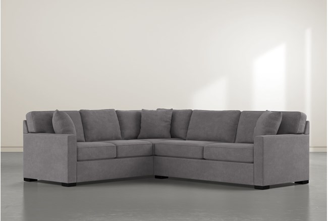 """Alder Down 2 Piece 92"""" Sectional With Right Arm Facing Condo Sofa - 360"""