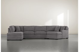 Alder Down 3 Piece Sectional With Left Arm Facing Armless Chaise