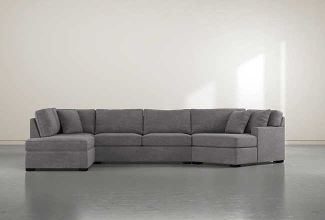 Alder Down 3 Piece Sectional With Left Arm Facing Armless Chaise - 360